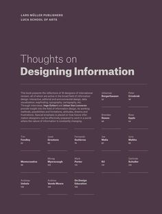 Thoughts on Designing Information | Slanted - Typo Weblog und Magazin