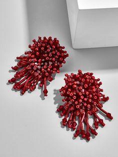 Chrysanthemum Drop Earrings