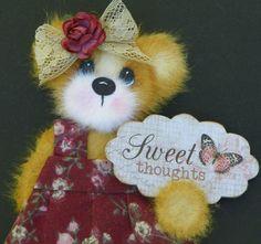 Twag Debbie Baby Girl Tear Bear Paper Piece 4 Premade Scrapbook Pages Album | eBay
