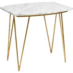 Spencer Marble Side Table ($795) ❤ liked on Polyvore