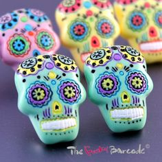Funky-grandes-Sugar-Skull-Aretes-Retro-Cool-Horror-Regalo-Kitsch-gotico-Divertido