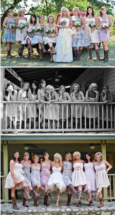 Miranda's cowgirl style wedding.