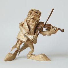 Origami violinist - Art