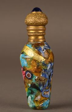 Rare Pietro Bigaglia scent bottle Antique Venetian glass Murano perfume salviati