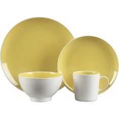 Max Yellow Dinnerware | Crate and Barrel  (limited)