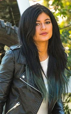 Pile on the Length from Kylie Jenner's Hair Evolution  The 17-year-old's extensions are in, and back to teal too.