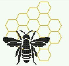 Bee hive xstitch pattern