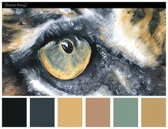 Tiger Eye Painting Color Scheme #colorscheme