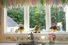 My Kitchen Bay Window Makeover - This is about a long neglected dark and dreary window that I painted white against the suggestions of everyone because it match