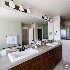 2015 Portland Ultimate New Home Showcase -  Pahlisch Homes  #vanities #mirror #lighting #basins #tapware