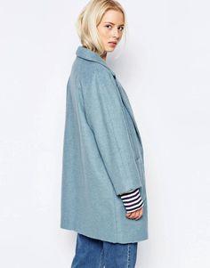 Ganni | Ganni Inglewood Blue Coat at ASOS