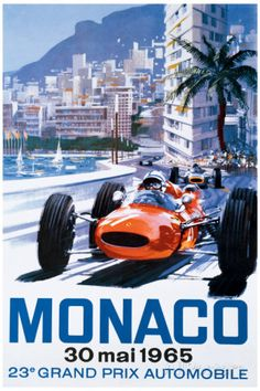 Grand Prix de Mônaco, 30 de maio de 1965 Impressão giclée