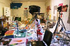 Daniel Gordon's Studio This makes me feel better about my messy studio.