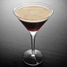 kahlua espresso martini: 1.5 oz kahlua, 1 oz absolut vodka, 1 oz freshly brewed espresso