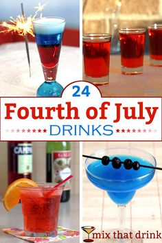Delicious Fourth of July drinks. Mostly red, white and blue cocktails, and also some classic cocktails created in the US, plus some Americana themed drinks. Great for barbecues or just a quiet drink while watching fireworks. Blue Drinks, Blue Cocktails, Classic Cocktails, Summer Cocktails, Mixed Drinks, Layered Drinks, Beach Drinks, Refreshing Cocktails, Craft Cocktails