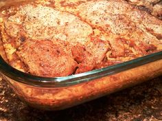 Pork Chop Casserole... the moistest, fork-tender pork chops you will ever eat!