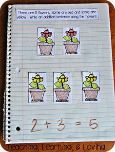 Teaching, Learning, & Loving: Interactive Math Journals for Pre-K Kindergarten Journals, Kindergarten Anchor Charts, Kindergarten Math, Teaching Math, Math Math, Math Fractions, Teaching Ideas, Interactive Math Journals, Math Notebooks