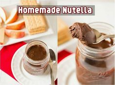 Yummy Homemade Nutella Recipe! Are you one of those who are addicted to Nutella? It's absolutely delicious! Why not make your own with this recipe! It's so much healthier because you know what's in it! It tastes the same as the store-brought kind! #nutellarecipe #homemadenutella #yummynutella