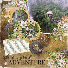 Created using Time Traveler Page Kit, Templates and Word Art by Heartstrings Scrap Art, Digital Scrapbooking Studio, #thestudio, #DSS