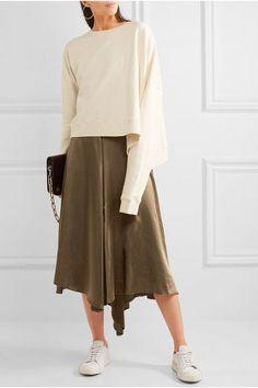 MM6 Maison Margiela - Oversized Cotton-jersey Sweatshirt - Off-white - x small