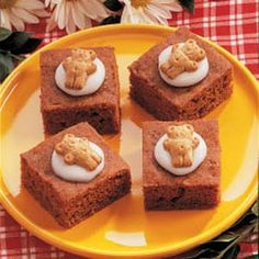 Teddy Carrot Bars- always a hit for class snack :)