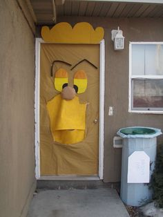 Alice in Wonderland party / Decorated door....this may be more for a kid's party but this is still too cute!