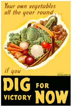 If you dig for victory now... WW2 vintage 1940s food victory garden