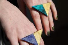 Two Tone Triangle Statement Ring by KatieBetty on Etsy, £5.00