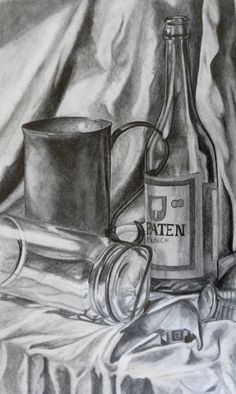 composition black and white still life drawing - Google Search