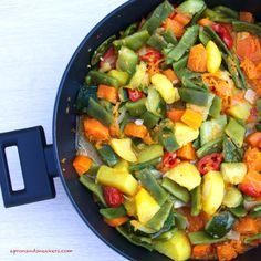 veggie side dishes  | ... Traveling in Italy and Beyond: Verdure in Padella (Mixed Vegetables