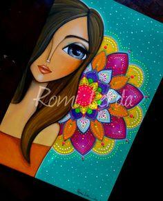 drawings of people Dot Painting, Fabric Painting, Painting & Drawing, Cartoon Drawings, Cute Drawings, Hippie Art, Arte Pop, Whimsical Art, Mosaic Art