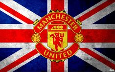 Manchester United Logo Wallpaper With Great Britain Flag Background Manchester Logo, Manchester United Images, Manchester United Wallpaper, Manchester United Football, Ronaldo, Real Madrid Manager, Great Britain Flag, Flag Background, Man United