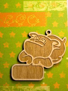 Wooden  bulldog dog keychain wood Schlüsselanhänger Hund pet accessories bulldog pet keychain
