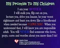my promise to my children <3