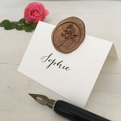 Wax Seal Place Cards, Wedding Place Card, Wedding Name Card Table Name Cards, Name Place Cards, Wedding Name Cards, Wedding Wishes, Enchanted Wedding Inspiration, Wax Art, Wax Seal Stamp, Sparkle Wedding, Seating Chart Wedding