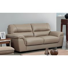 ESF Furniture Largest Sofas collection: Easily blending with any modern living room decor, the sofa offers an ultimate combination of style and comfort. The sofa is covered in finest genuine Italian leather upholst Corner Sofa Design, Sofa Bed Design, Living Room Sofa Design, Single Couch, Latest Sofa Designs, Best Leather Sofa, Italian Leather Sofa, Beige Sofa, Luxury Sofa