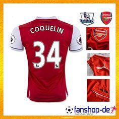Neues Arsenal Heimtrikot COQUELIN 34 Rot 2016 2017 Fanshop Kaufen