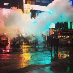 """""""I'm going home."""" """"You could learn from this guy Gaff. He's a god damn one man slaughter house. That's what he is. Four more to go. Come on Gaff, let's go."""" """"Three. There's three to go"""" ---------- #BladeRunner #scifi #futuristic #nyc #manhattan #timesquare #instanyc"""