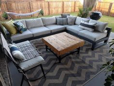 I made my wife a sturdy outdoor sectional out of cheap construction-grade lumber - Album on Imgur