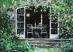 Terrace, St. Remy by Jeremy Barlow