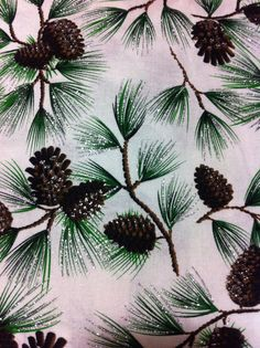 Christmas Pine with Glitter Cotton Fabric  by Universalideas, $9.00 https://www.etsy.com/listing/167953654/christmas-pine-with-glitter-cotton