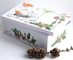 Large Christmas Gift Box - Inspired MOUSE - Christmas Gift Wrap, Printable, Digital PDF,Instant Down