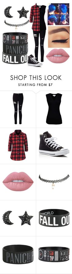 """emo or lesbian? who knows"" by xxpiercetheabbeyxx ❤ liked on Polyvore featuring Miss Selfridge, Velvet by Graham & Spencer, Converse, Lime Crime and Wet Seal"