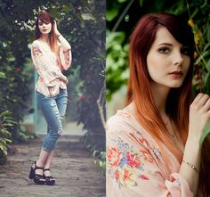 GabyOwl -  - Ripped jeans and Kimono