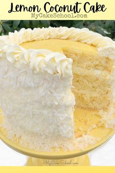 Whipped Cream Cheese Frosting, Cream Cheese Filling, Lemon And Coconut Cake, Coconut Cakes, Best Coconut Cake Recipe, Coconut Flan, Coconut Frosting, Coconut Recipes, Healthy Recipes