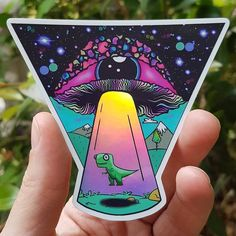 UV indoor and outdoor Stickers - High quality Trippy sticker Alien Drawings, Trippy Drawings, Space Drawings, Cool Art Drawings, Art Sketches, Hippie Painting, Trippy Painting, Matte Painting, Psychedelic Drawings