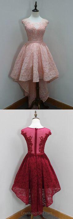 High Low Prom Dresses 2018 Pink dress
