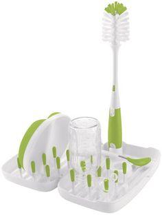 OXO Tot On-the-Go Drying Rack with Bottle Brush - Green $15