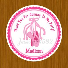 Ballet Dance Party Favor Stickers  Name and by jessica91582, $3.50
