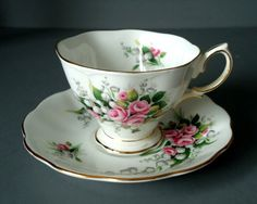Antique Cup And Saucer Sets | cup and saucer set royal albert lily of the valley teacup and saucer ...